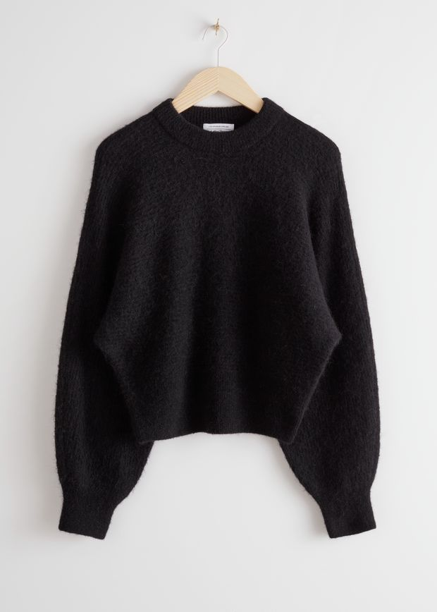 Mock Neck Alpaca Blend Sweater