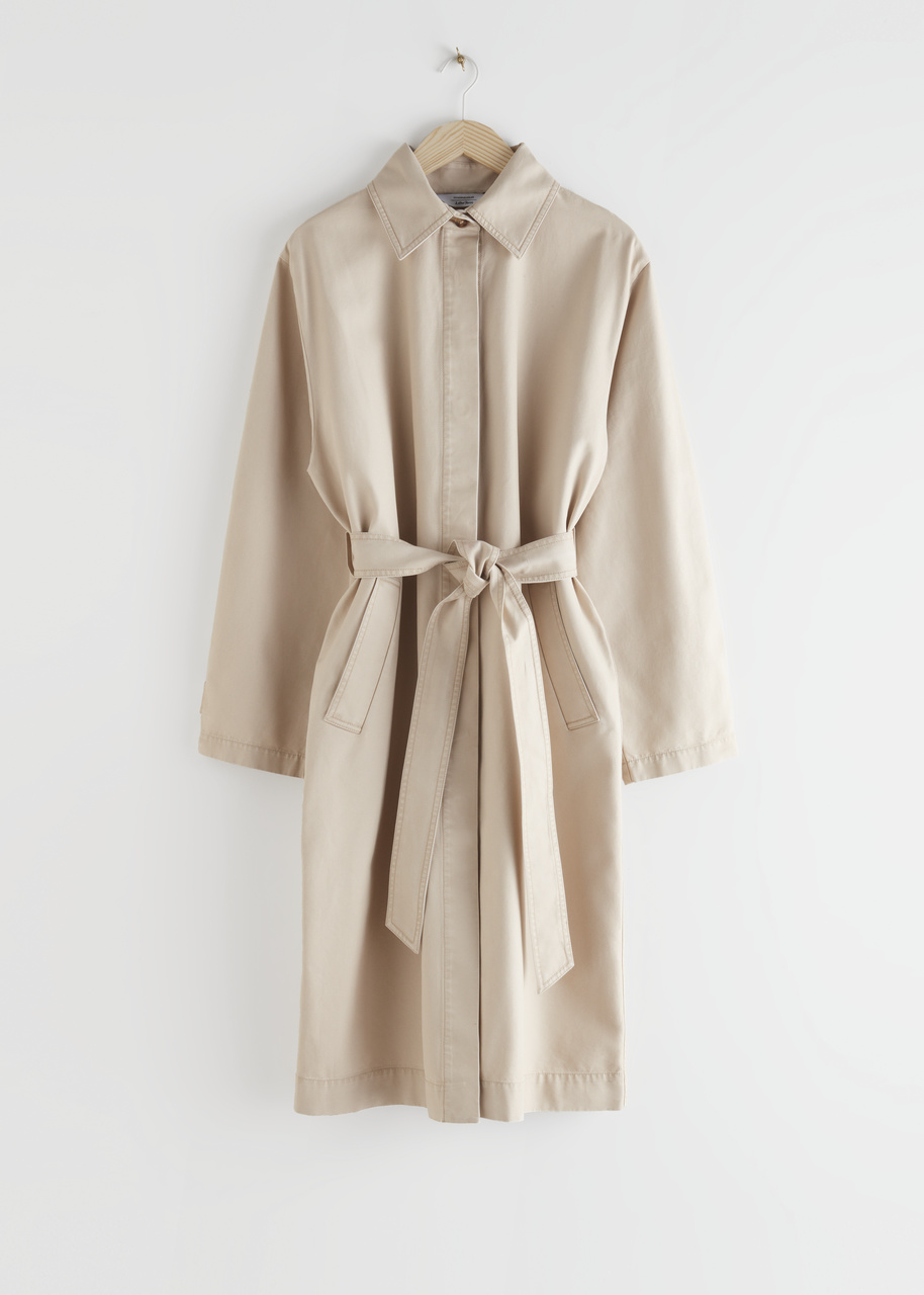 Belted Canvas Coat