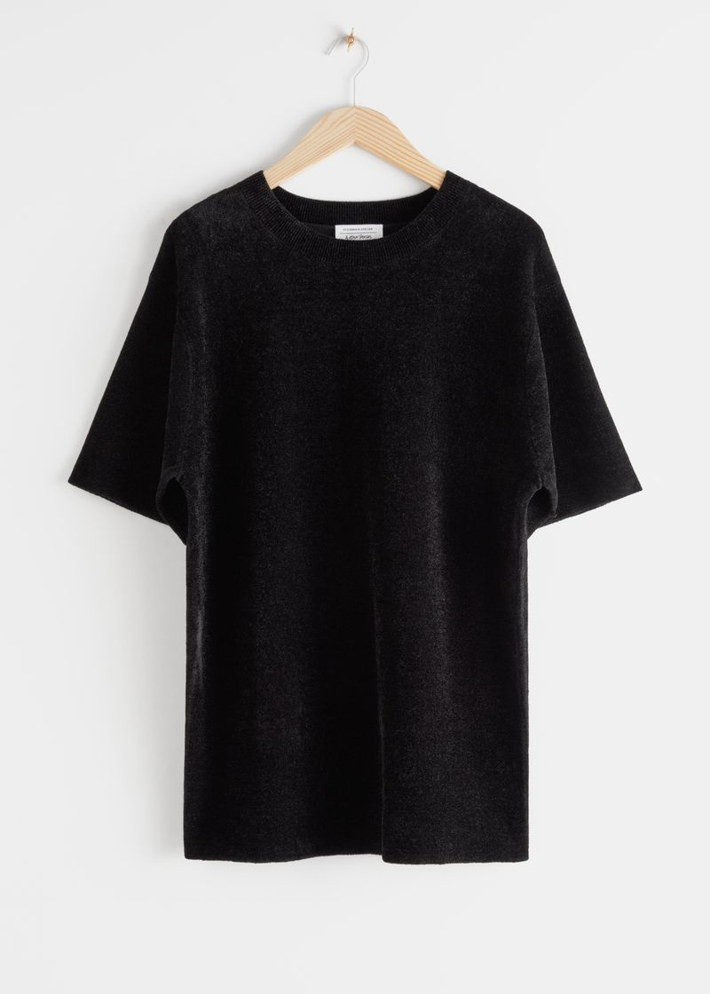 Oversized Knit T-Shirt