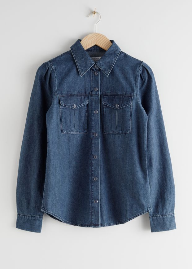 Organic Cotton Button Up Denim Shirt