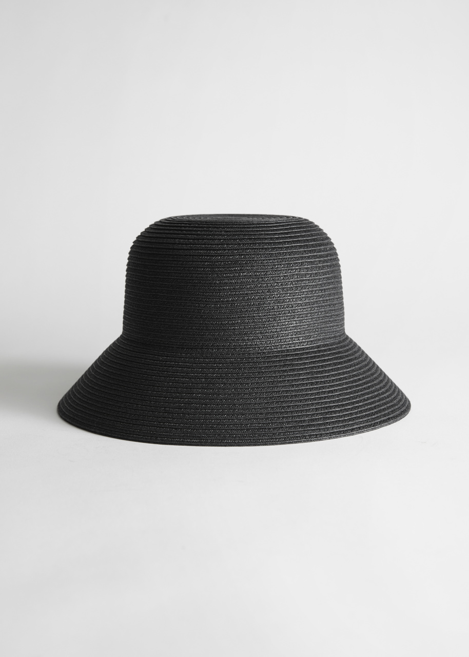Structured Straw Bucket Hat