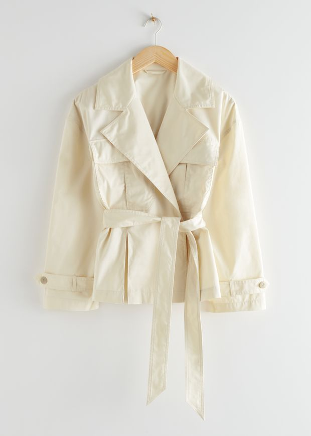 Belted Short Trench Jacket