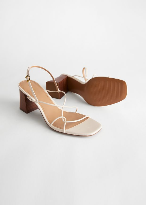 Strappy Leather Heeled Sandal