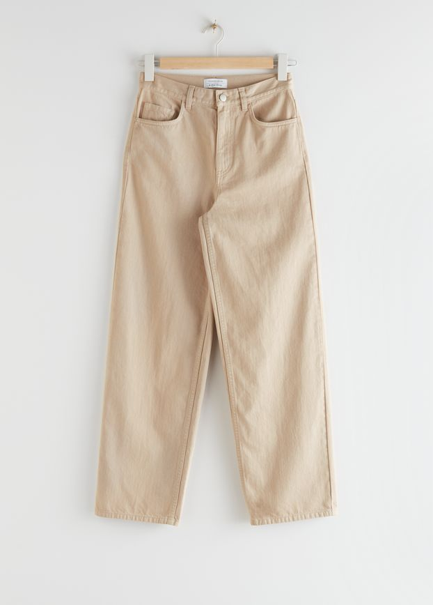 Wide High Rise Trousers