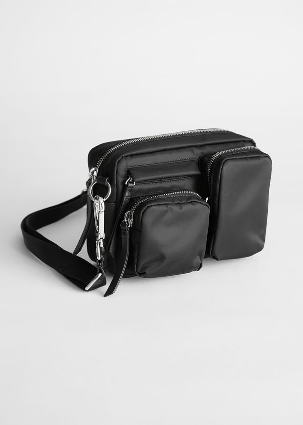 Nylon Multi Pocket Crossbody Bag