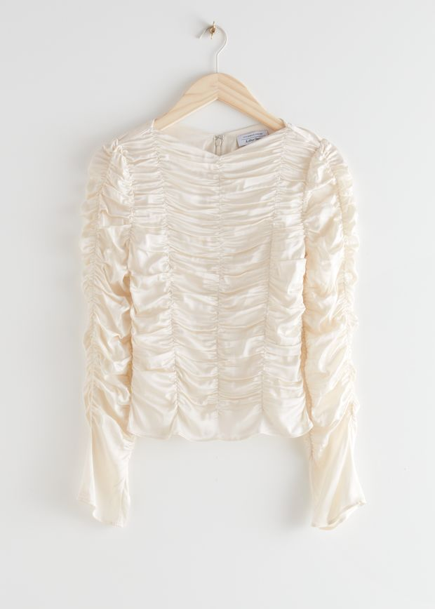 Gathered Long Sleeve Top
