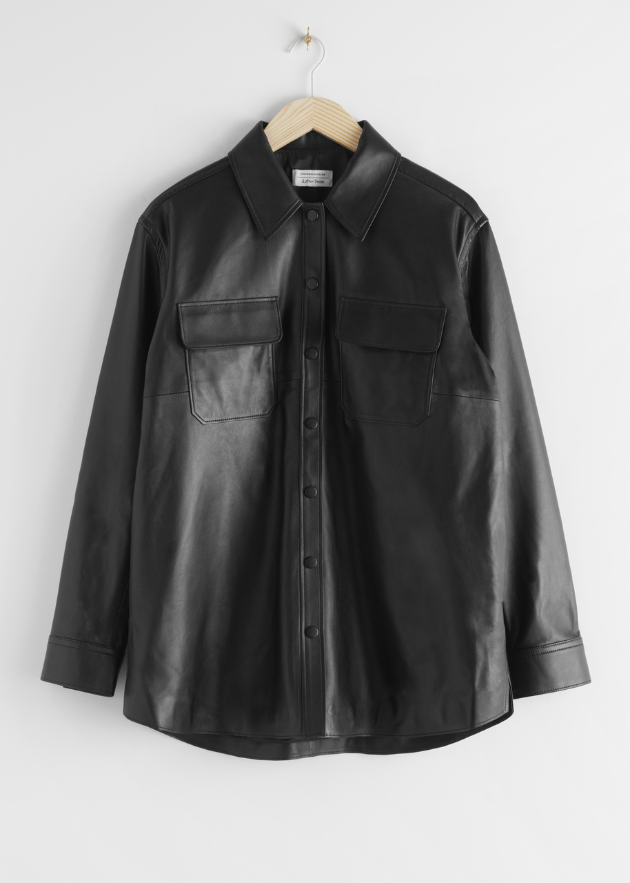 Relaxed Leather Shirt