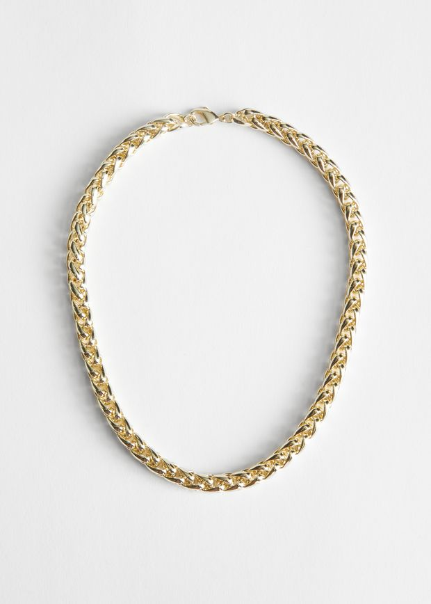 Twisted Chain Link Necklace