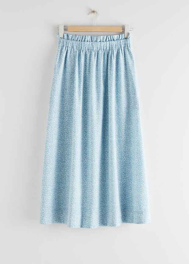 Frilled Midi Skirt