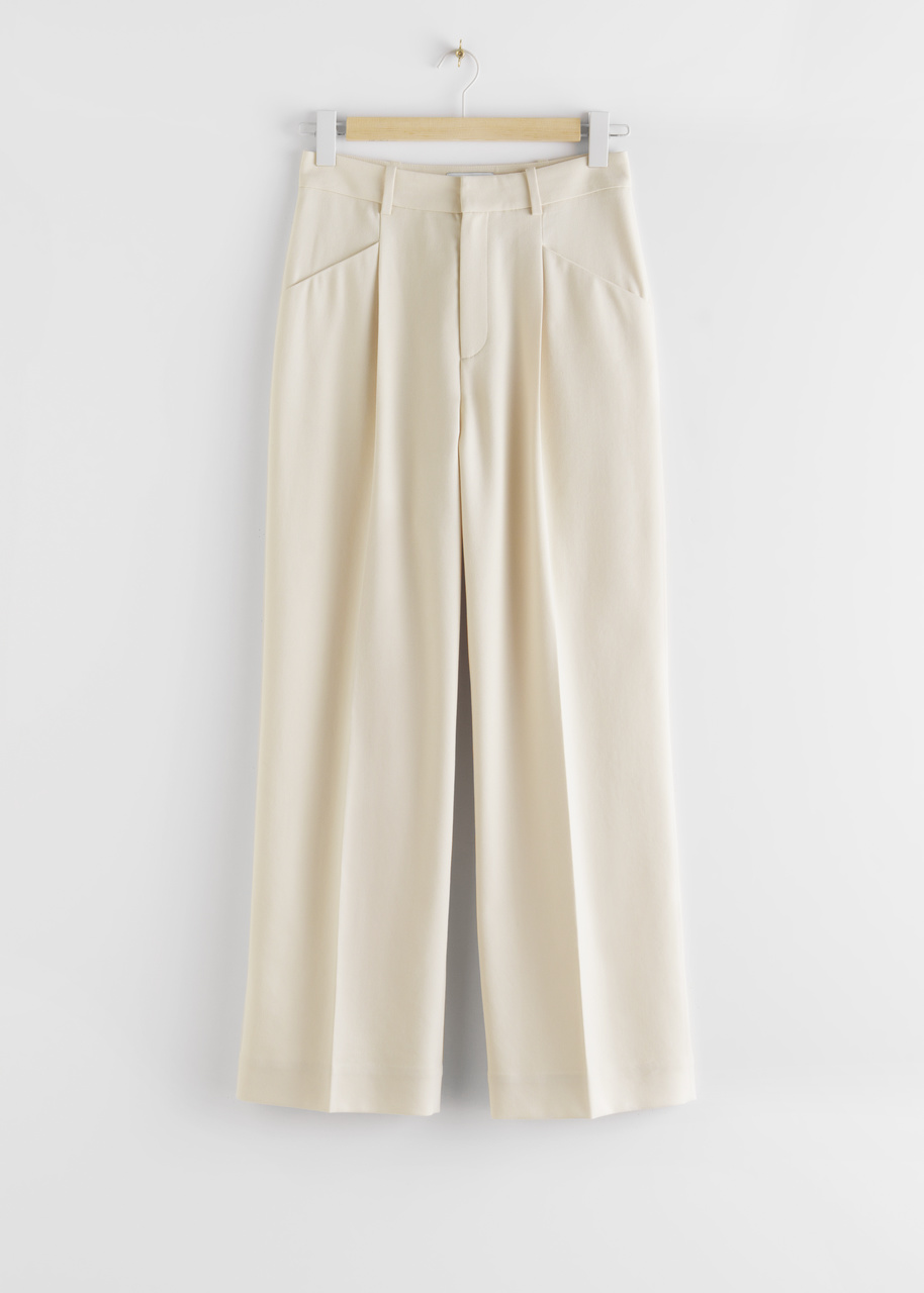Duo Pleat High Rise Trousers