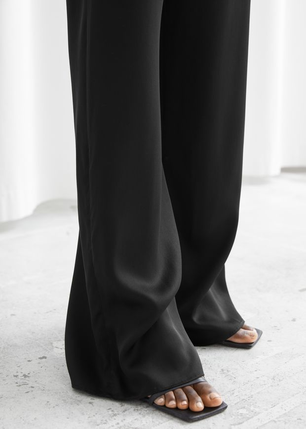 Relaxed Flared Trousers