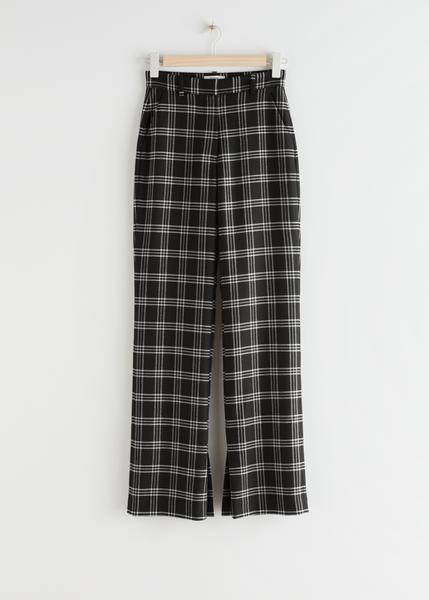 Flared High Waist Trousers